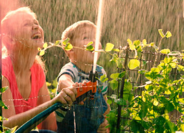 water in de tuin